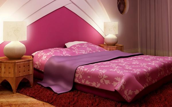 schlafzimmer-einrichten-schöne-bettwäsche-rosa-schlafzimmer-ideen-elegante-bettwäsche--