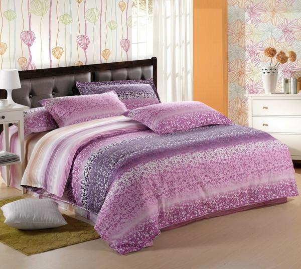 schlafzimmer-einrichten--schöne-bettwäsche-rosa-schlafzimmer-ideen-elegante-bettwäsche