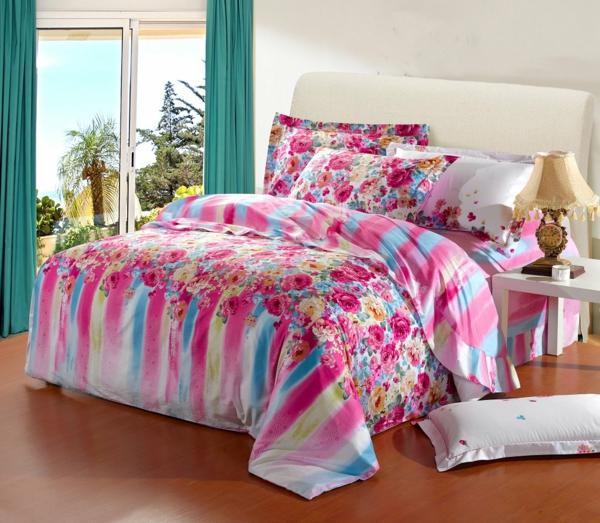 schlafzimmer-einrichten-schöne-bettwäsche-rosa-schlafzimmer-ideen