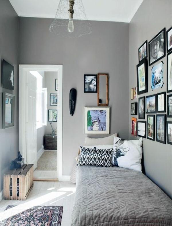 Wohnzimmer braun blau
