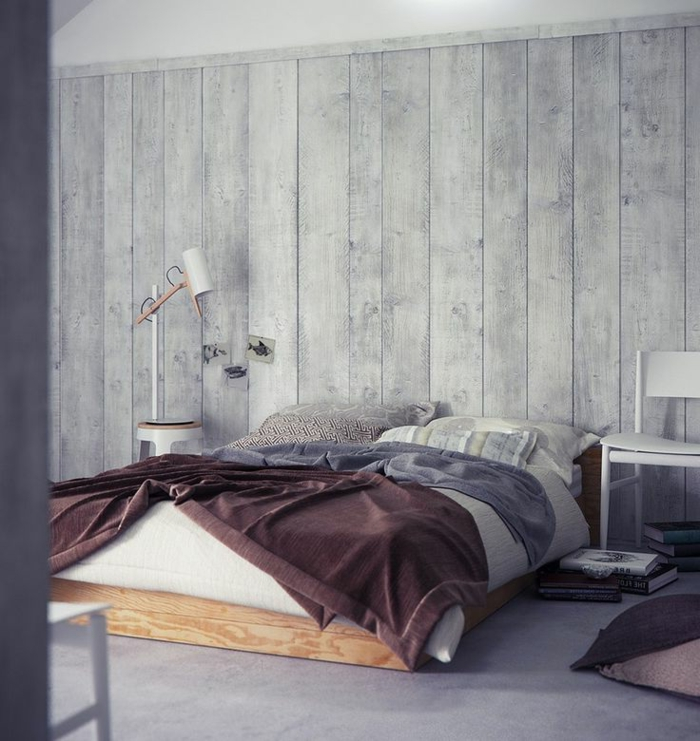 schlafzimmer inspiration holzoptik wandgestaltung wand holzoptik tapete tapeten ideen sch%C3%B6ne tapeten  - Schlafzimmer Tapete