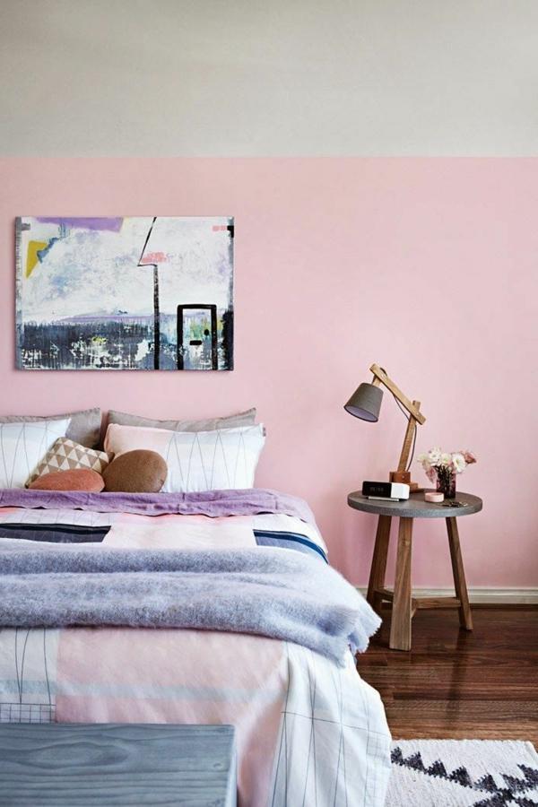 schlafzimmer-inspiration-ideen-für-wandfarbe-in-rosa