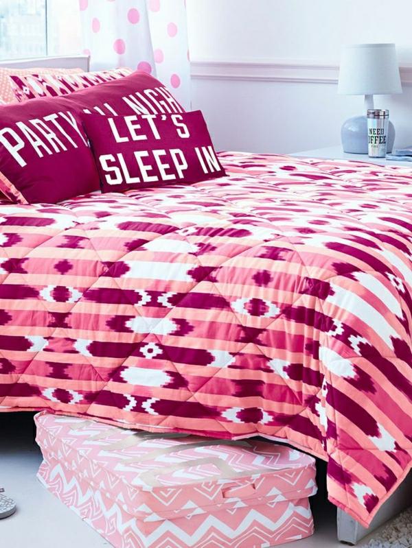 -schlafzimmer-inspiration- schlafzimmer-gestalten-schöne-bettwäsche-rosa