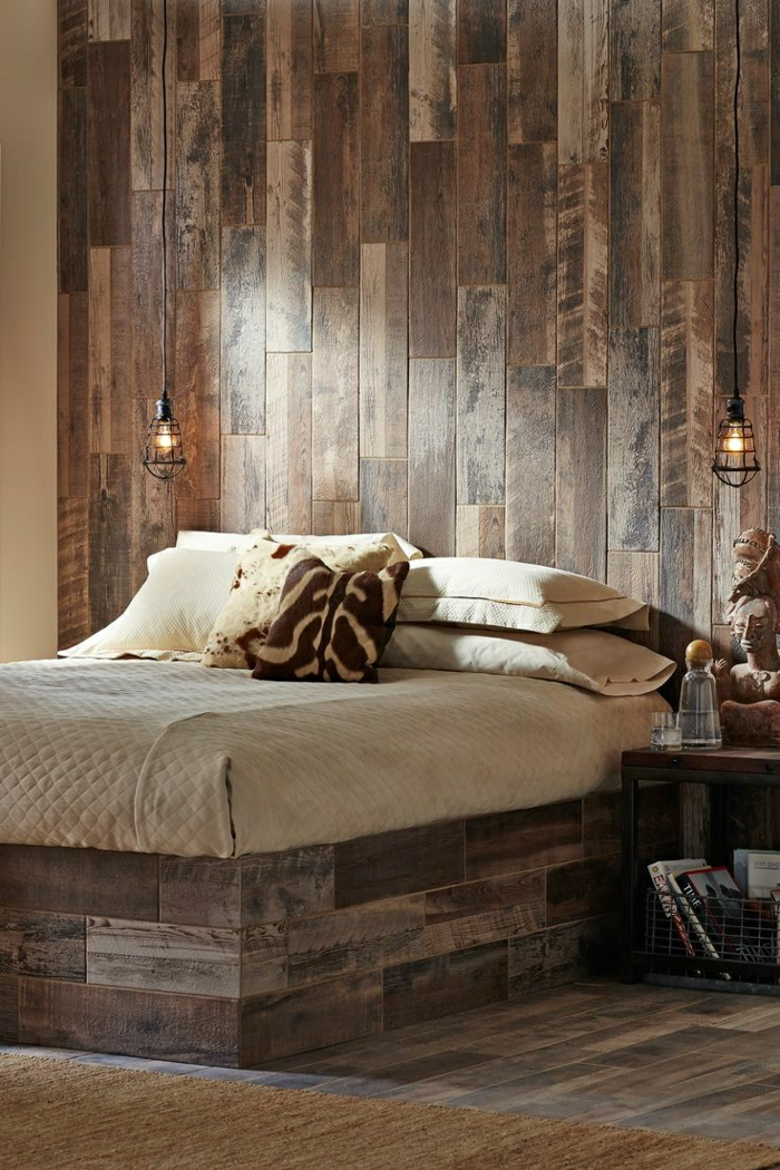 wandverkleidung holz innen landhaus. Black Bedroom Furniture Sets. Home Design Ideas