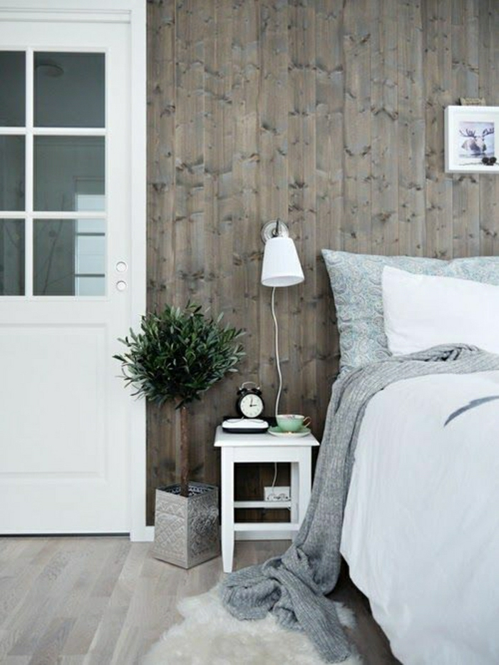 Wandverkleidung Aus Holz - 95 Fantastische Design Ideen - Archzine.net Wandverkleidung Modern Schlafzimmer