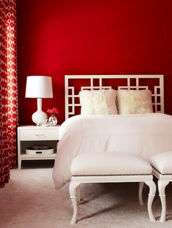 rote wand 50 ideen mit wandfarbe rot. Black Bedroom Furniture Sets. Home Design Ideas