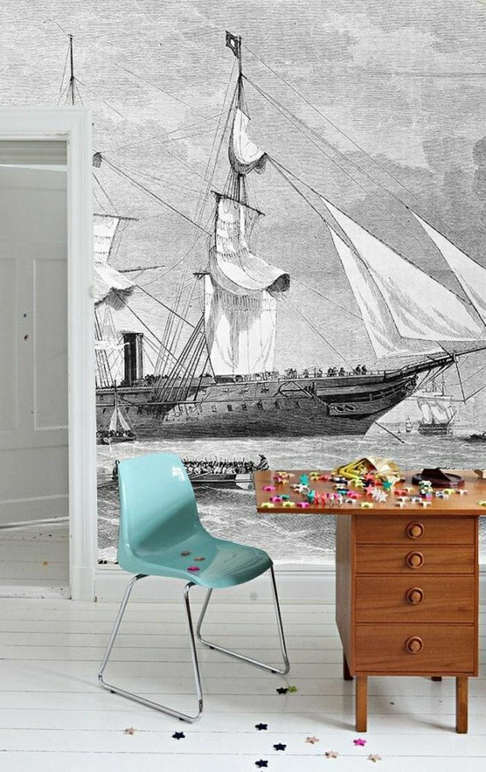 schwarz-weiße-Tapete-Schiffe