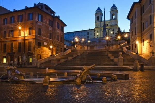 tolles bild von der spanischen treppe in rom