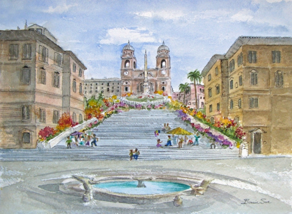 spanische-treppe-wunderschöne-malerei