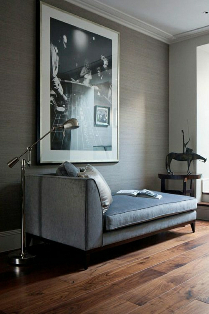 Tapete in grau stilvolle vorschl ge f r wandgestaltung - Schlafzimmer vorschlage ...