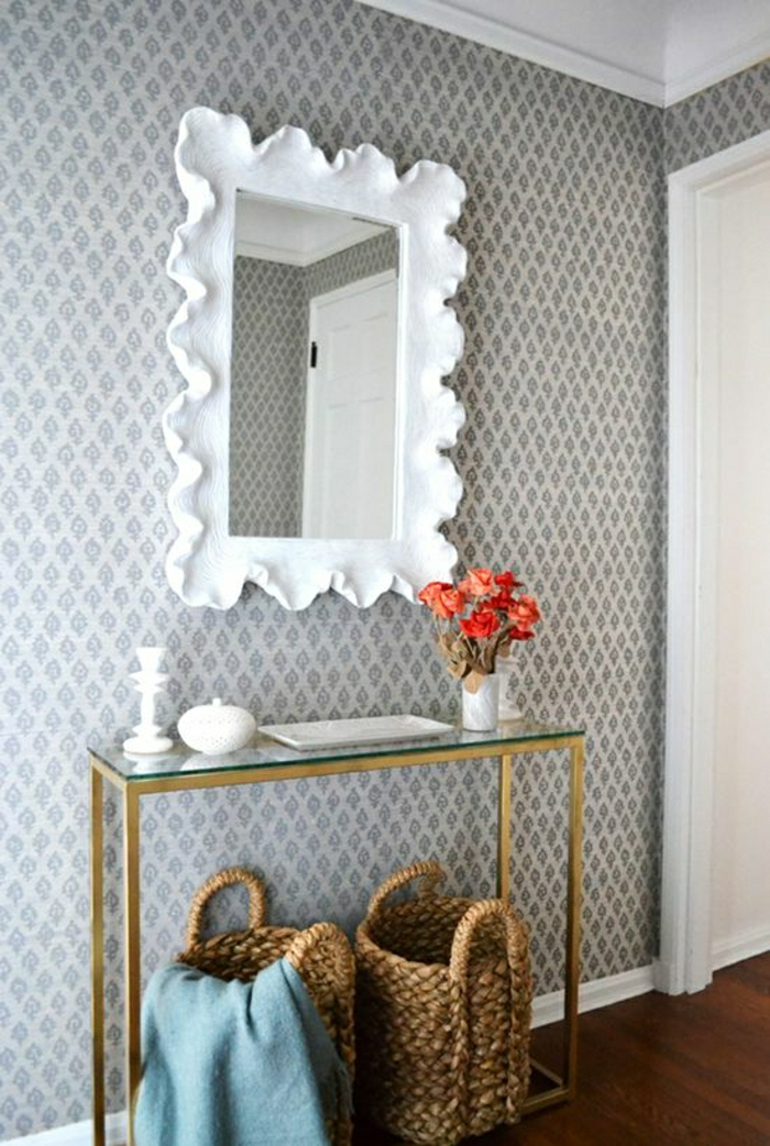 Tapete In Grau - Stilvolle Vorschläge Für Wandgestaltung ... Flur Tapeten Ideen