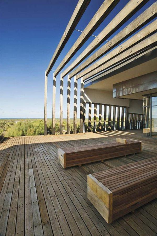 TerrassenUberdachung Holz Bilder ~ terrassenüberdachung aus holz super schönes modell mit bänken
