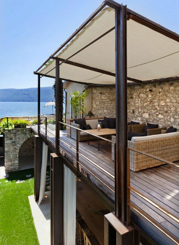 terrassenüberdachung-hölzerne-säule
