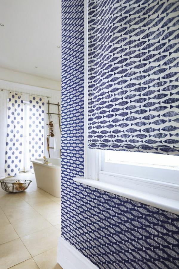 Tapeten Design F?r Badezimmer : -design-tapeten-ideen-designer-tapeten-mit-fischen-tapeten-design