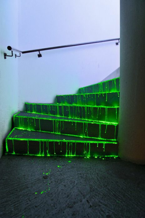 treppen-beleuchtung-grüne-schöne-gestaltung