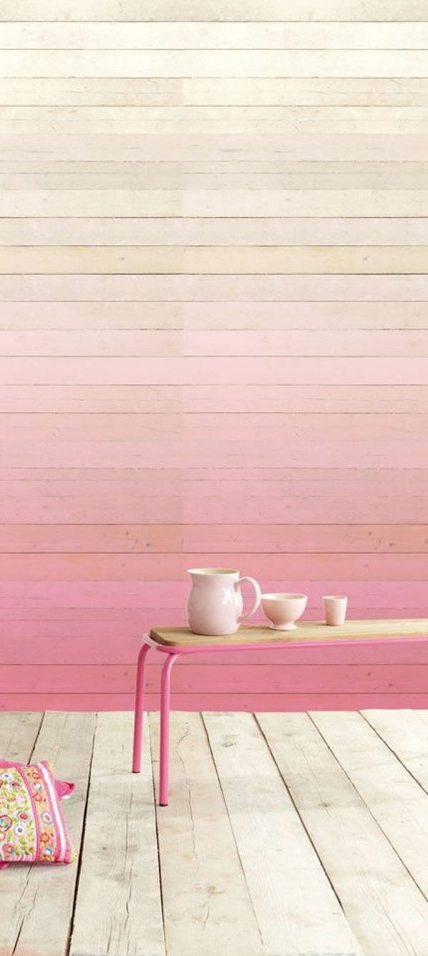 Rosa wandfarbe   25 super schöne beispiele!