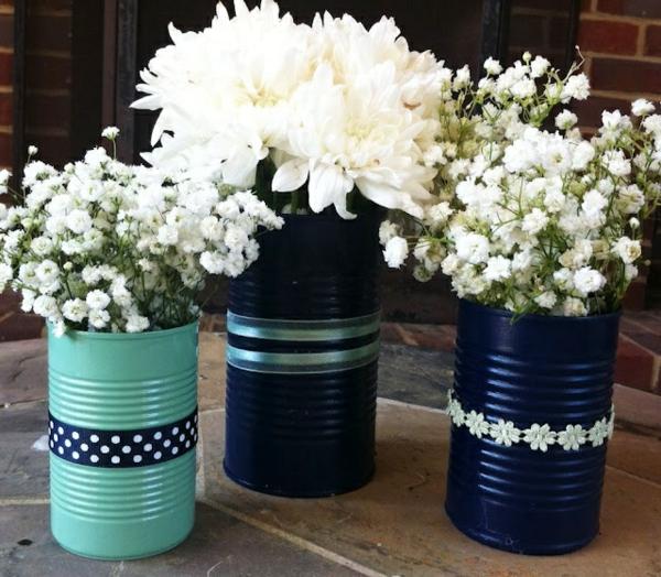 67 verbl ffende bilder vasen dekorieren - Peindre boite de conserve ...