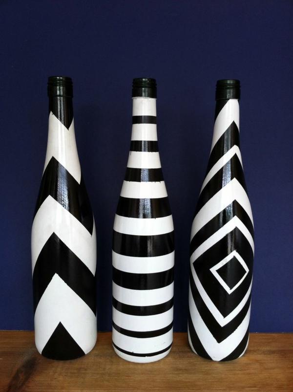 vasen-dekorieren-weiße-und-schwarze-farbe