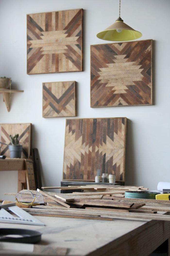 40 verblüffende ideen für wanddeko aus holz - archzine.net - Wanddekoration Wohnzimmer