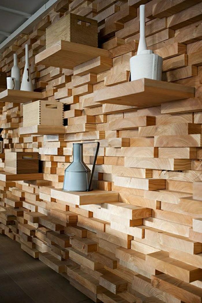 schöne wohnzimmer uhren:wandgestaltung-holz-schöne-wände-wohnzimmer-wandgestaltung-