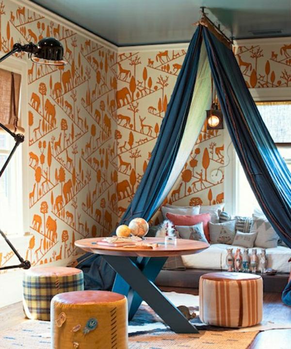 Mehr Als 150 Unikale Wandfarbe Grau Ideen: 48 Tolle Beispiele Für Kinderzimmer Tapete