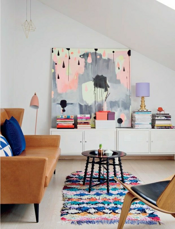 wohnzimmer pastellfarben:Schaffen Sie eine gemütliche Atmosphäre im Zimmer – Holzwand Ideen