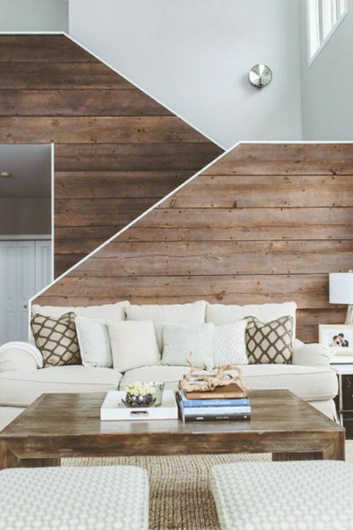 moderne wohnzimmer wandgestaltung blau als dekoidee wohnzimmer modern wohnzimmer wandgestaltung holzr - Wandgestaltung Wohnzimmer Altbau