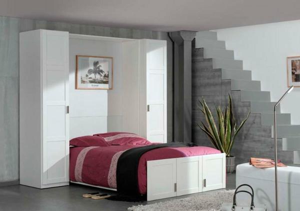 weiße-schlafzimmermöbel-einrichtungsideen-raumsparend-kleine-wohnungen-