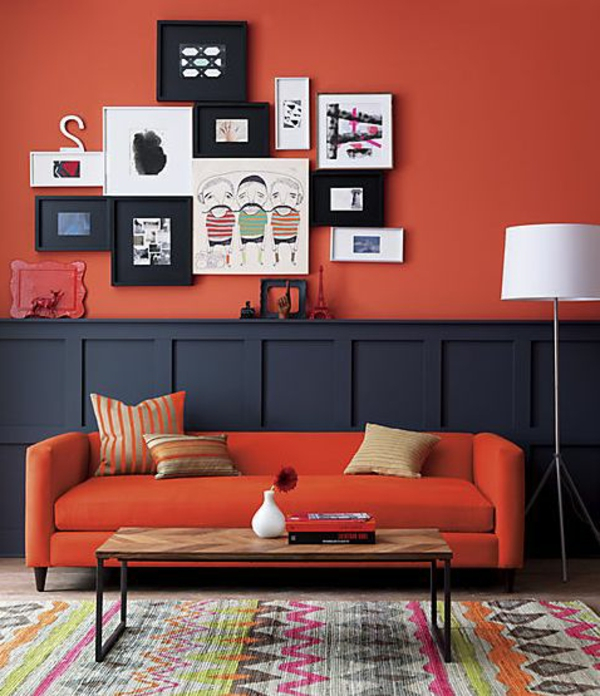 wohnzimmer wandfarbe rot. Black Bedroom Furniture Sets. Home Design Ideas