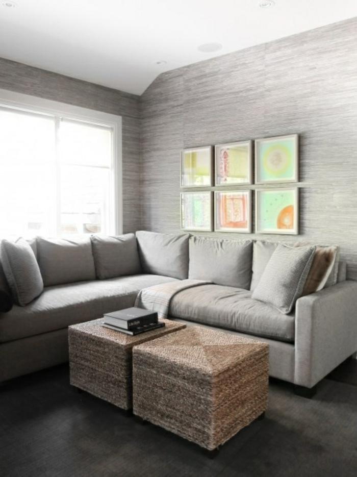 tapete in grau stilvolle vorschl ge f r wandgestaltung. Black Bedroom Furniture Sets. Home Design Ideas
