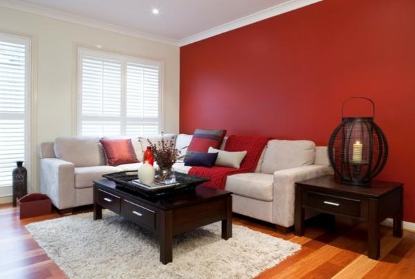 Wandgestaltung Rote Couch Wand Ideen Mit Wandfarbe Rot