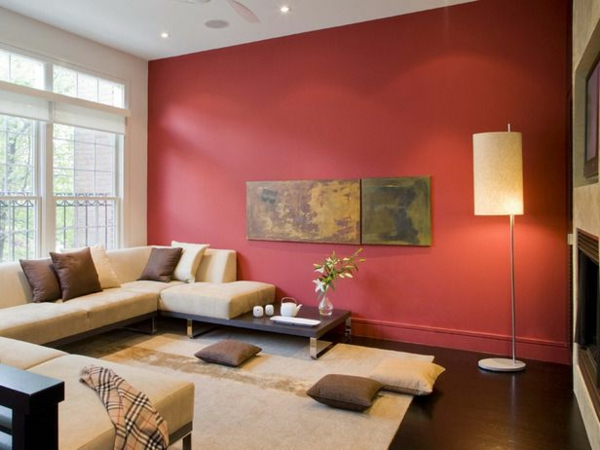 Stunning Wohnzimmer Bordeaux Rot Pictures - House Design Ideas ...