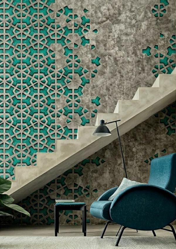 wohnzimmer-tapeten-retro-tapeten-vintage-tapete-schöne-tapeten-wohnzimmer-tapete-wohnzimmer-tapeten-grün-