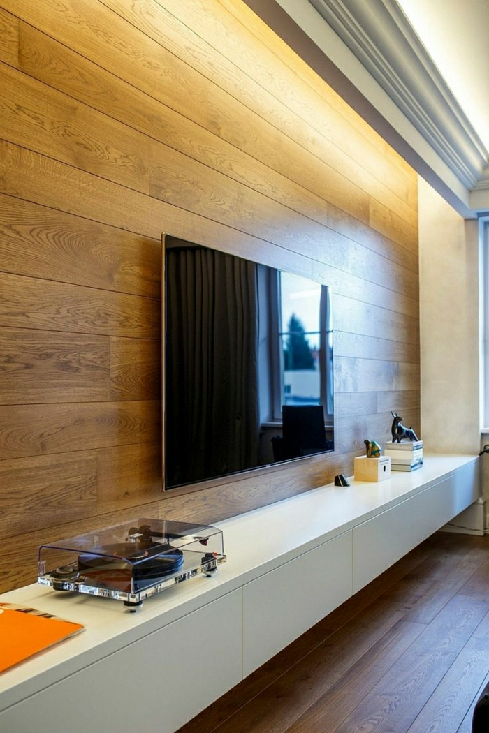 wohnzimmer-wandgestaltung-holz-schöne-wände-wohnzimmer-wandgestaltung