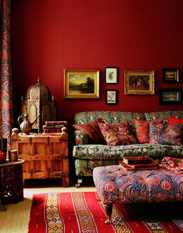 Rote Wand - 50 Ideen mit Wandfarbe Rot !