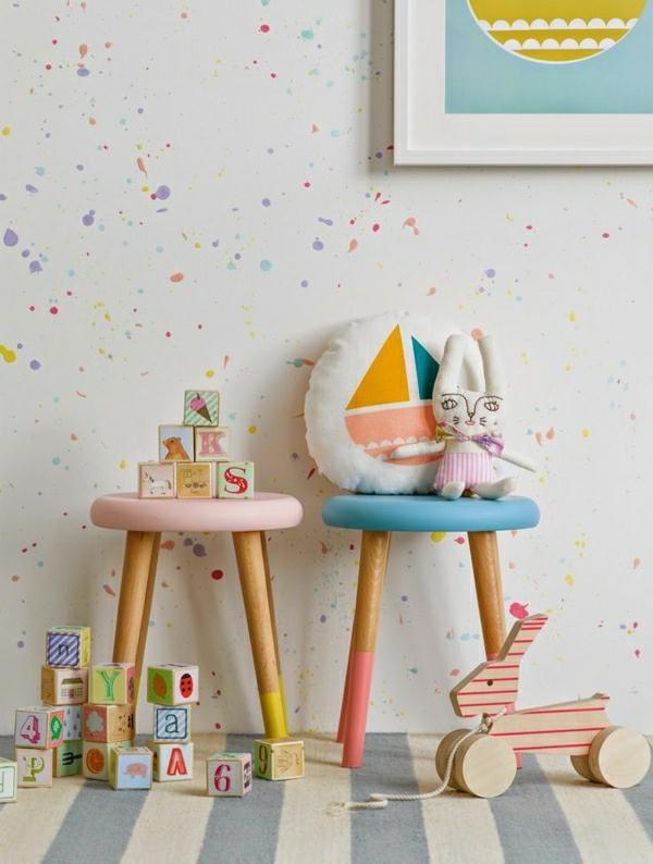48 tolle beispiele für kinderzimmer tapete ! - archzine, Schlafzimmer design