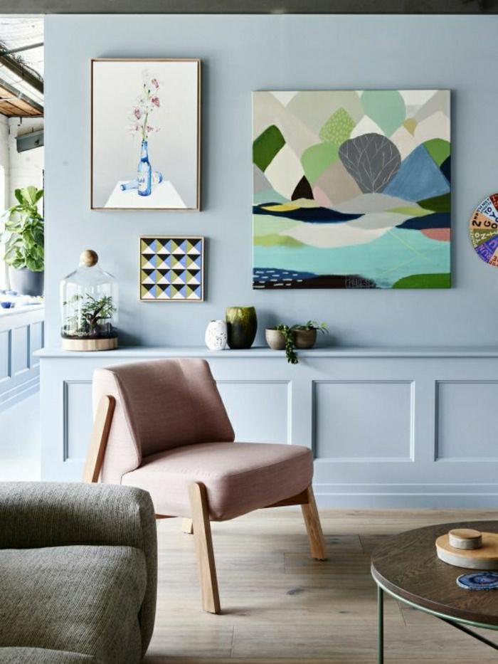 Pastellfarben Wohnzimmer Grau