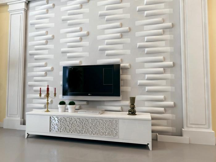 ... Wohnzimmer Einrichten Wandpaneele Tv Wand wohnzimmer ideen tv wand