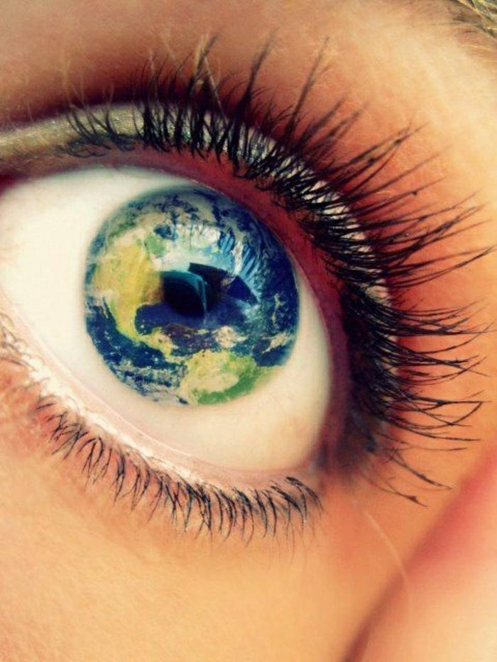 Auge-Planet-Erde