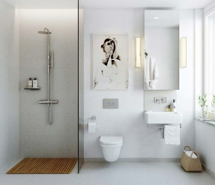 Badezimmer-skandinavisch-Duschkabine-weiß-minimalistisch