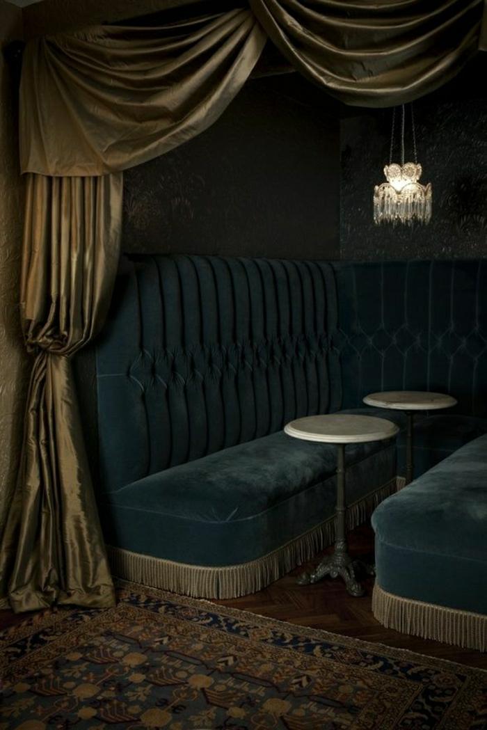 Dark Blue Velvet Curtains