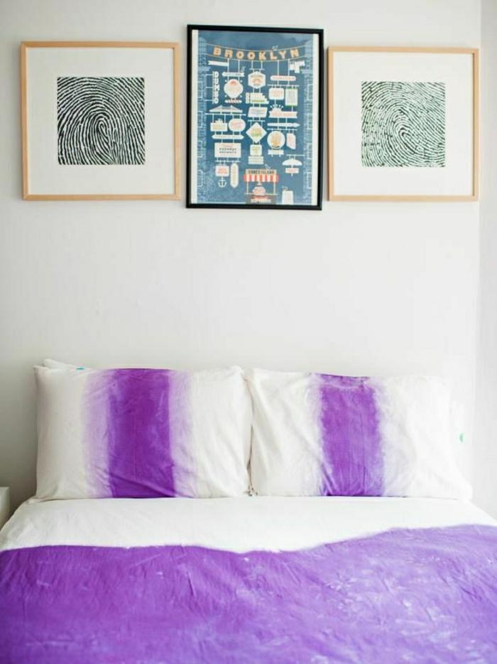 Bettwäsche-Ombre-Effekt-lila-weiß-Bilder-Fingerabdrücke