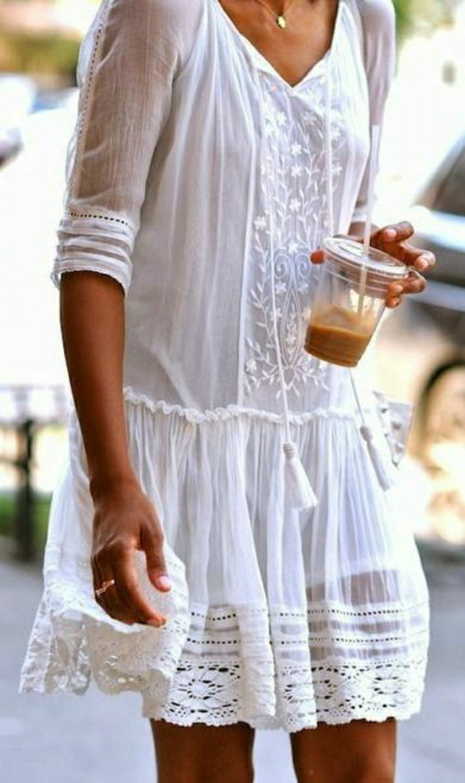Boho-Chic-Kleid-weiß-Sommer-Kaffee