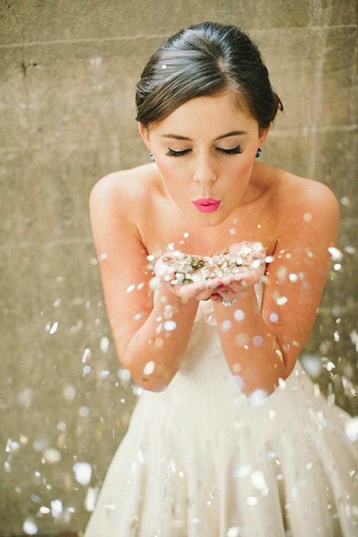 Braut-Hochzeit-Sternenstaub-blasen