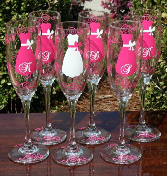 Braut-Party-Champagner-Gläser