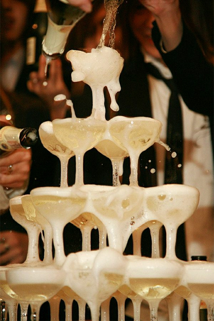 Champagner-Turm-Vintage-Hochzeit-Sektgläser