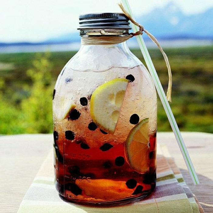 Cocktail-Blaubeeren-Zitrone-Gingerale-alkoholfrei