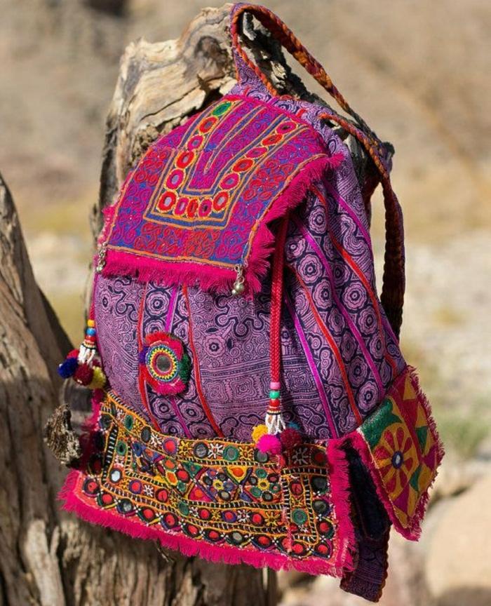 Damen-Rucksack-Boho-Chic-indische-Motive