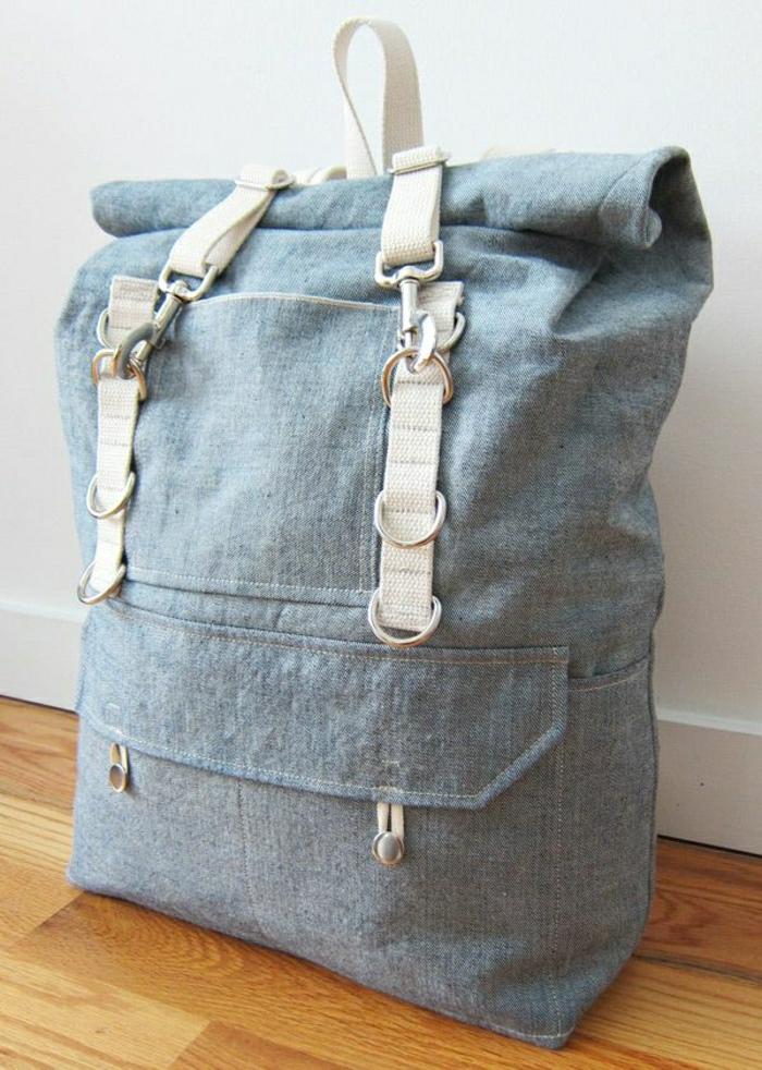 Damen-Rucksack-Reiserucksack-blau