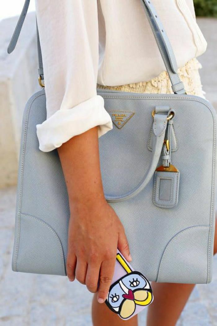Designer-Taschen-Prada-blau-schön